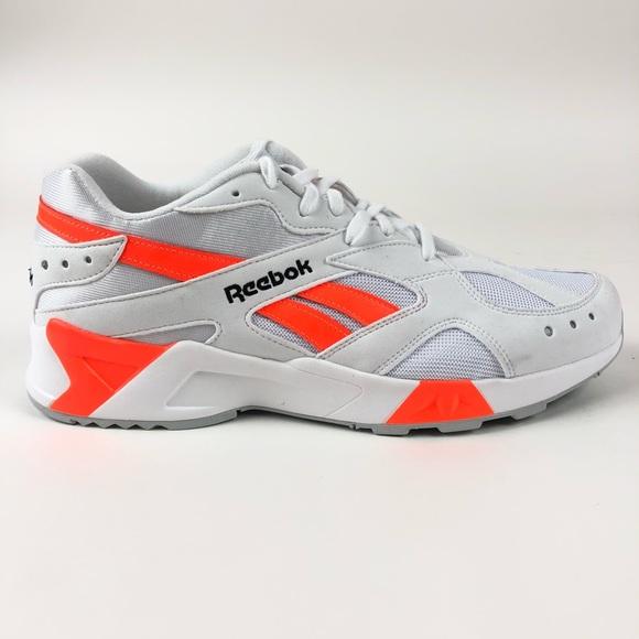 Reebok Aztrek Solar Orange Trainer Shoes CN7472 NWT
